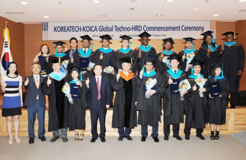 KOREATECH held a master´s course completion ceremony for 'Global Techno-HRD Program'.