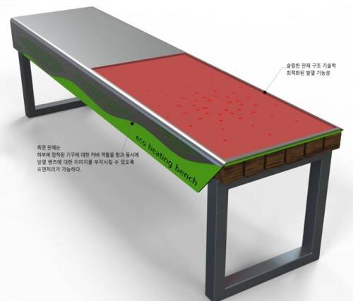 코리아텍, 산학공동기술개발 '나노온열벤치' 선보여