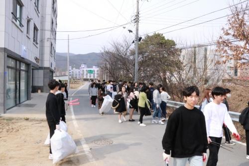 코리아텍 학생자치단체 등 '환경 정화 봉사'