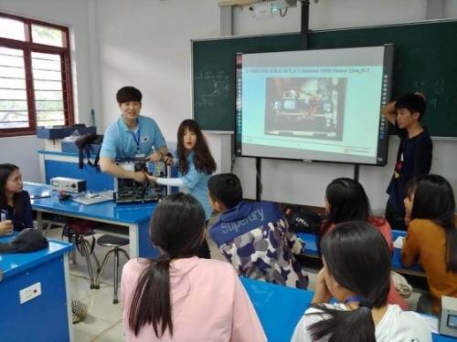 [한국대학신문][찰칵! 현장] 코리아텍 학생들, 라오스 IT교육봉사