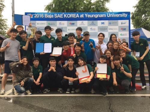 코리아텍 자연인팀 '국제대학생 자작자동차대회' 종합 3위
