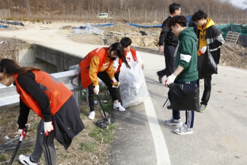 코리아텍 학생자치단체 합동 '환경개선 봉사'
